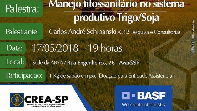 PALESTRAS - Manejo fitossanitário no sistema produtivo Trigo / Soja