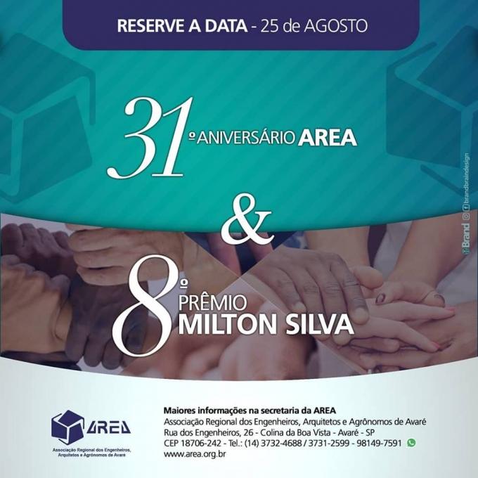 31º Niver AREA e prêmio Milton Silva