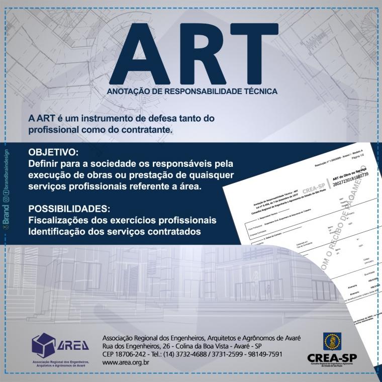 ART - Anotações de Responsabilidade Técnica