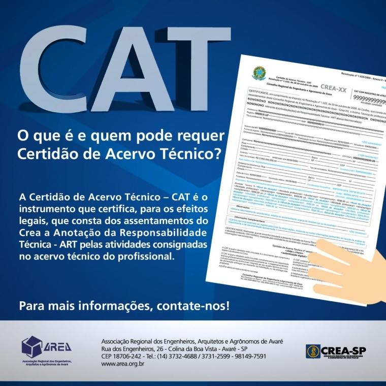 CAT - O que é e quem pode requer Certidão de Acervo Técnico?