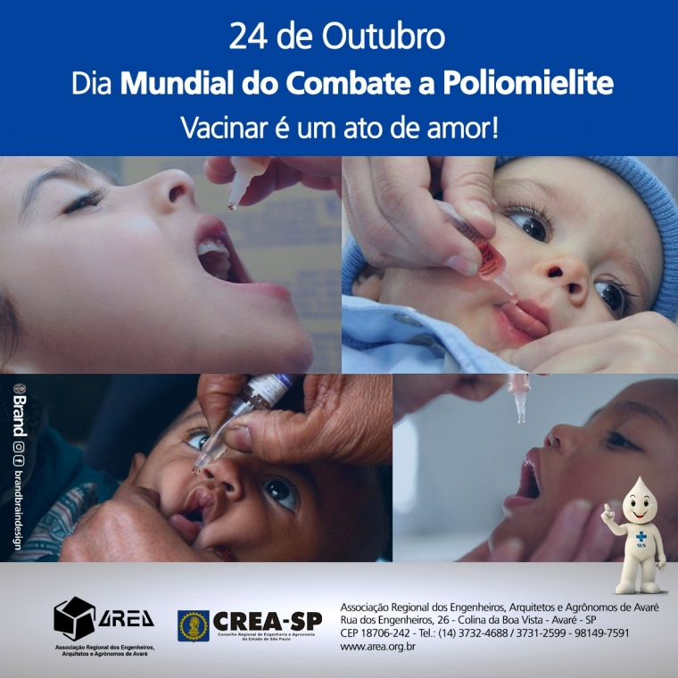 Dia mundial ao combate a poliomielite
