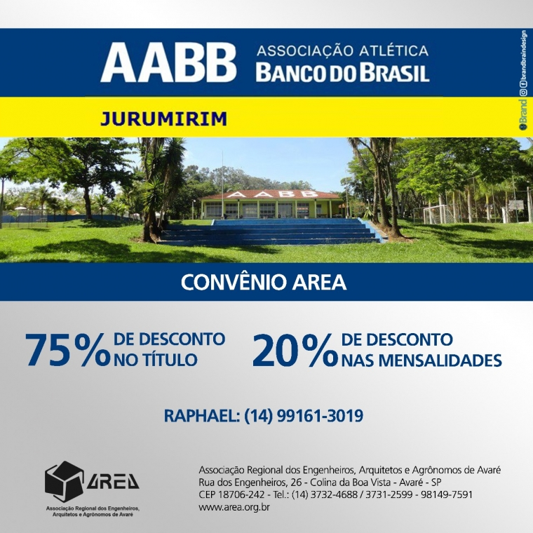 Novo convênio AREA - AABB