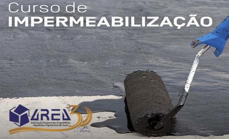 AREA realizará curso de impermeabilização