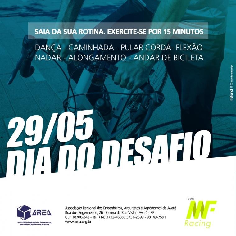 29/05 DIA DO DESAFIO!