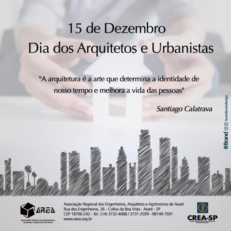 Dia dos Arquitetos e Urbanistas