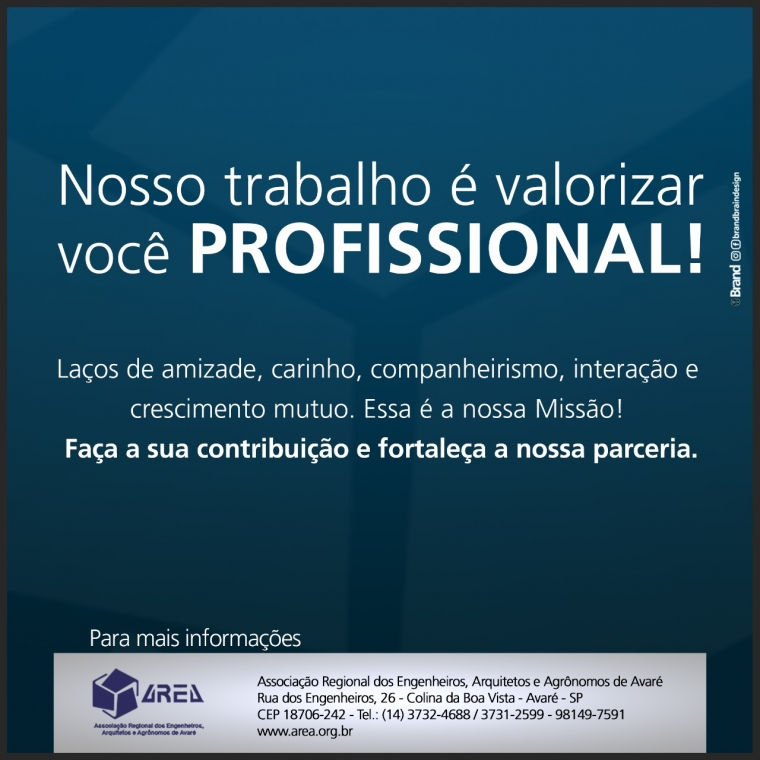 Nosso trabalho é valorizar você PROFISSIONAL!