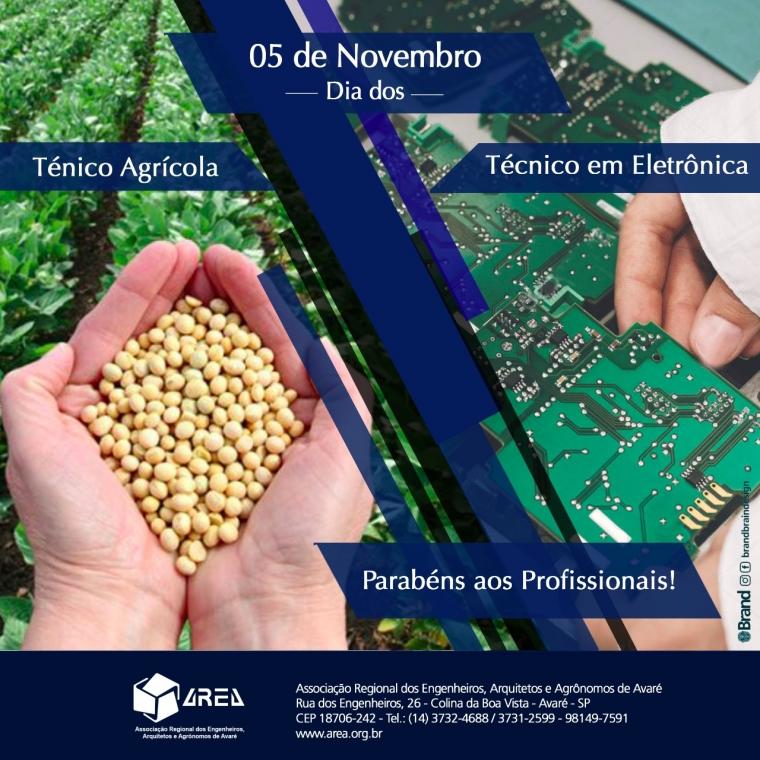 Dia do Técnico Agrícola e Técnico em eletrônica