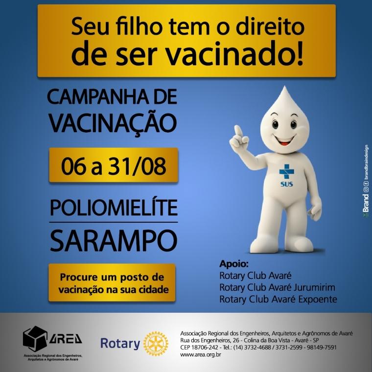 Seu filho tem o direito de ser vacinado!