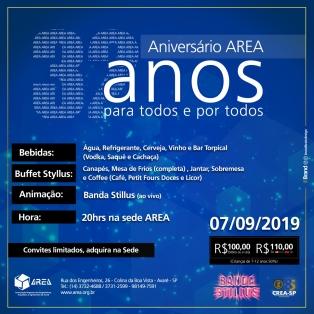 Aniversario AREA - 32 anos para todos e por todos
