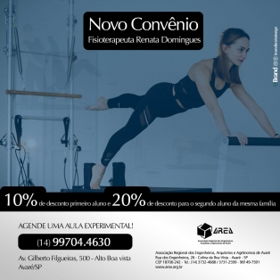 Novo convênio - Fisioterapeuta Renata Domingues