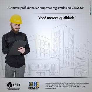 Contrate profissionais e empresas registradas no CREA-SP