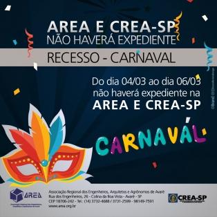Recesso carnaval 2019